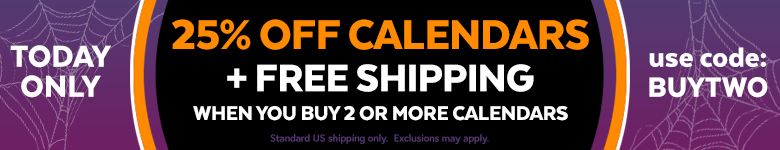 Buy 2 or more calendars get 25% Off and free shipping! Use Code BUYTWO